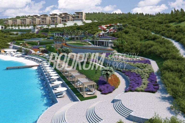 Bodrum Luxury Beach Front Villas and Apartments For Sale with Resort Facilities